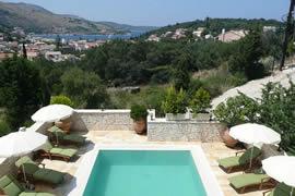 Christos Ferienvilla mit Pool in Kassiopi -Korfu