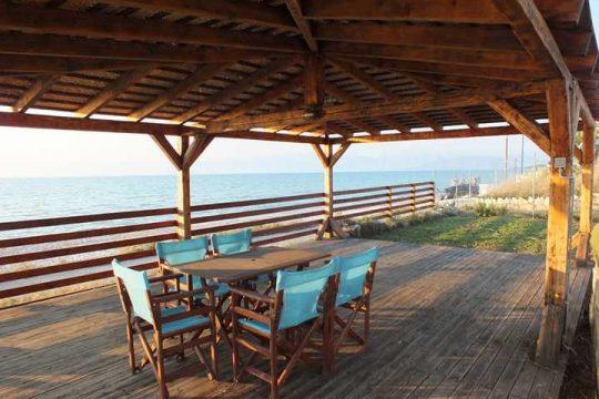 Corfu beachfront Villa Calypso in Acharavi