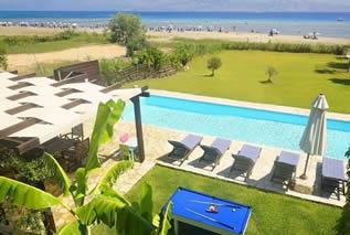 Strandvilla mit Pool in Korfu -Villa Thalassa
